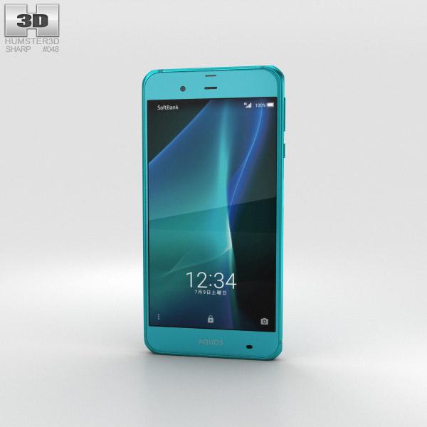Sharp Aquos Xx3 Green 3Dモデル