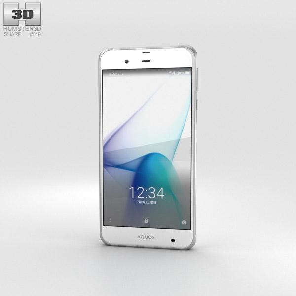 Sharp Aquos Xx3 白い 3Dモデル
