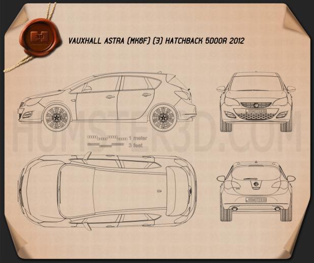 Vauxhall Astra 5-door hatchback 2012 Blueprint
