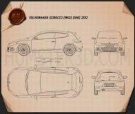 Volkswagen Scirocco 2012 Blueprint