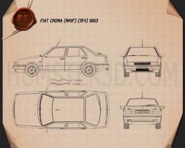 Fiat Croma (154) 1993 Blueprint
