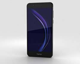 3D model of Huawei Honor 8 Midnight Black