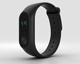 3D model of Xiaomi Mi Band 2 Black