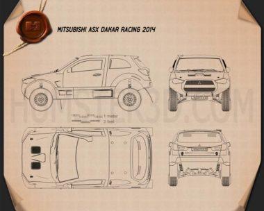 Mitsubishi ASX Dakar Racing 2014 Blueprint
