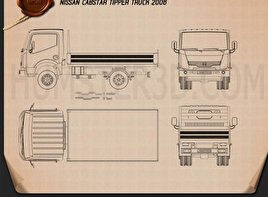 Nissan Cabstar Tipper Truck 2006 Blueprint