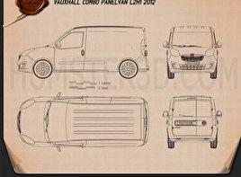 Vauxhall Combo Panel Van L2H1 2012 Blueprint