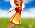 Fairy Character low poly Free 3D model