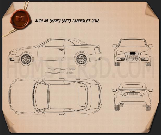 Audi A5 cabriolet 2012 Blueprint