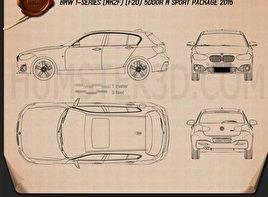 BMW 1 Series (F20) 5-door M Sport Package 2015 Blueprint