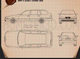 BMW 5 Series E39 Touring 1995 Blueprint