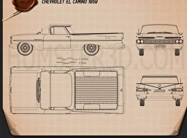 Chevrolet El Camino 1959 Blueprint