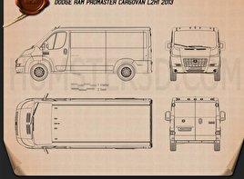 Dodge Ram ProMaster Cargo Van L2H1 2013 Blueprint