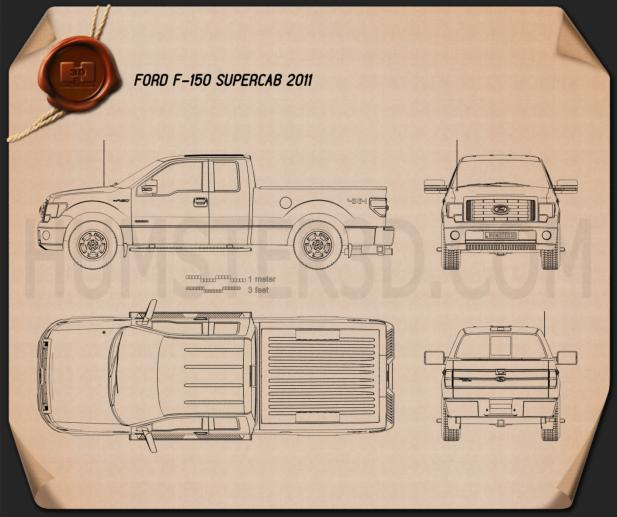 Ford F-150 Super Cab 2011 Blueprint