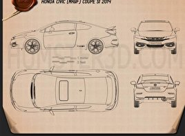 Honda Civic coupe Si 2014 Blueprint