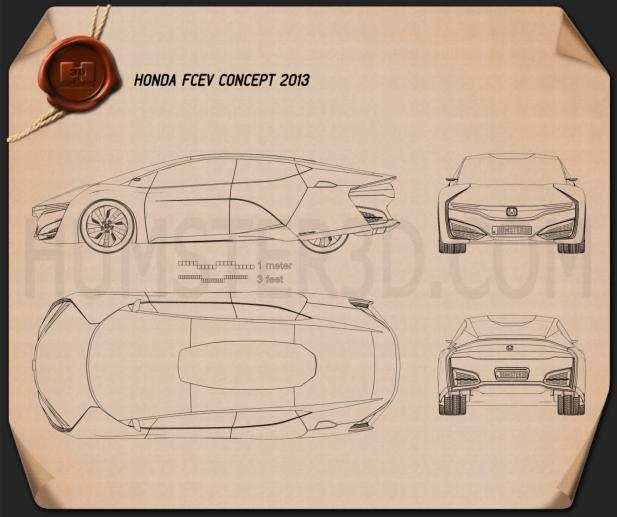 Honda FCEV 2013 Blueprint