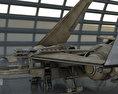 Futuristic Combat Jet Rigged Free 3D model