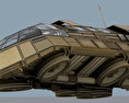 Futuristic Transport Shuttle Rigged Free 3D model