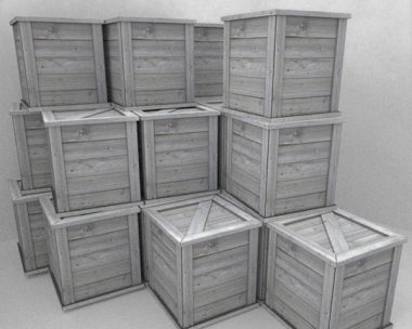Wooden Boxes low poly