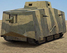3D model of A7V Sturmpanzerwagen