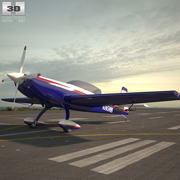 Extra 300L Aerobatic aircraft 3D model