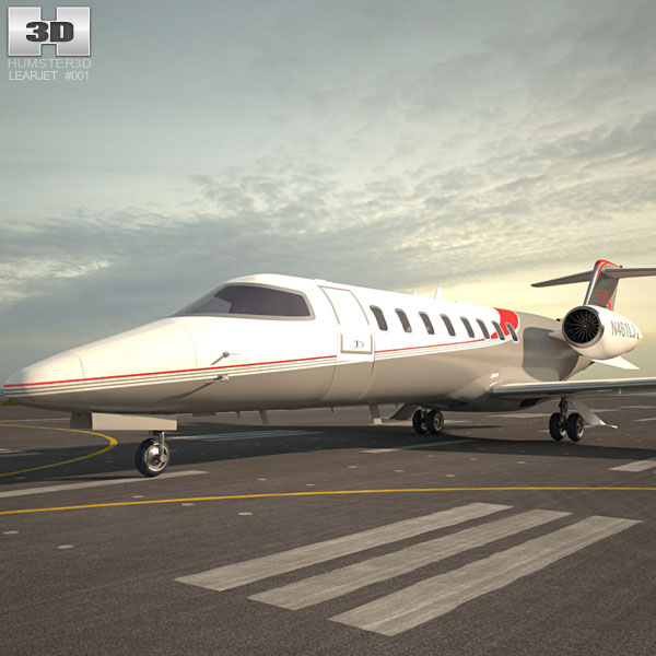 3D model of Learjet 75