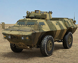 3D model of M1117 Armored Security Vehicle