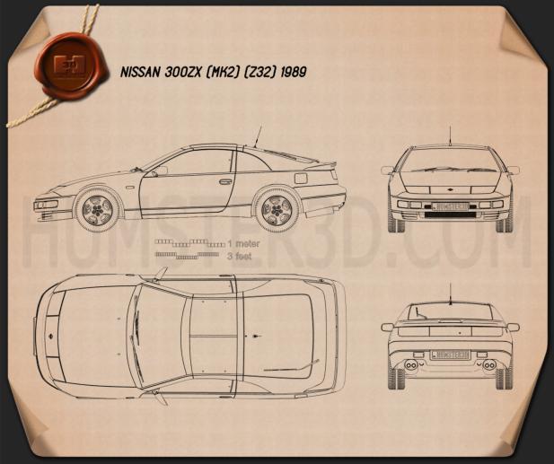 Nissan 300ZX (Z32) 1989 Blueprint
