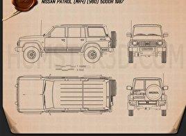 Nissan Patrol (Y60) 5-door 1987 Blueprint