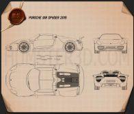 Porsche 918 Spyder 2015 Blueprint