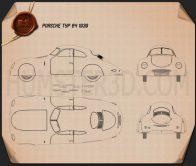 Porsche Type 64 1939 Blueprint