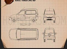 Renault Kangoo 1997 Blueprint