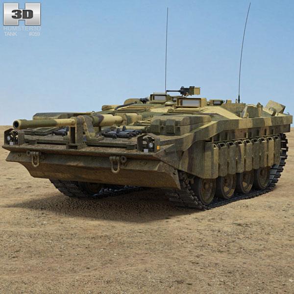 Stridsvagn 103 S-Tank 3D model