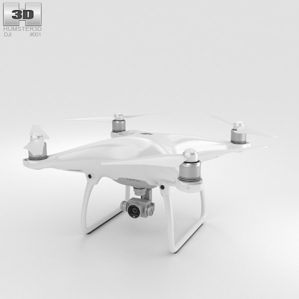 3D model of DJI Phantom 4 Camera Drone
