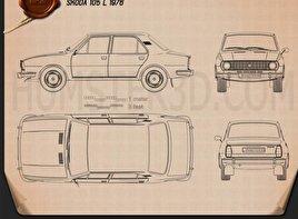 Skoda 105 L 1976 Blueprint