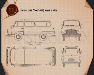 Skoda 1203 1968 Blueprint