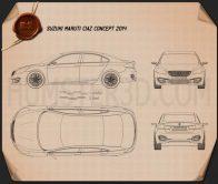 Suzuki (Maruti) Ciaz Concept 2014 Blueprint