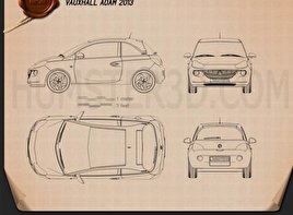 Vauxhall Adam 2013 Blueprint