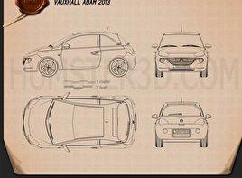 Vauxhall Adam 2013 Blueprint