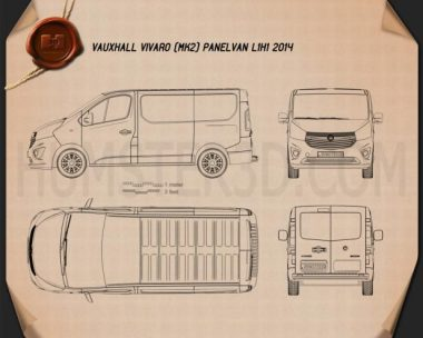 Vauxhall Vivaro Panel Van L1H1 2014 Blueprint