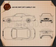 Audi RS5 cabriolet 2012 Blueprint