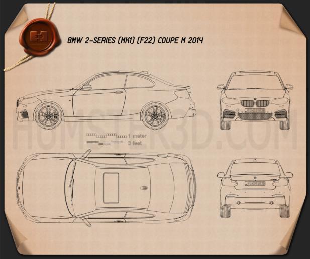 BMW M235i coupe (F22) 2014 Blueprint