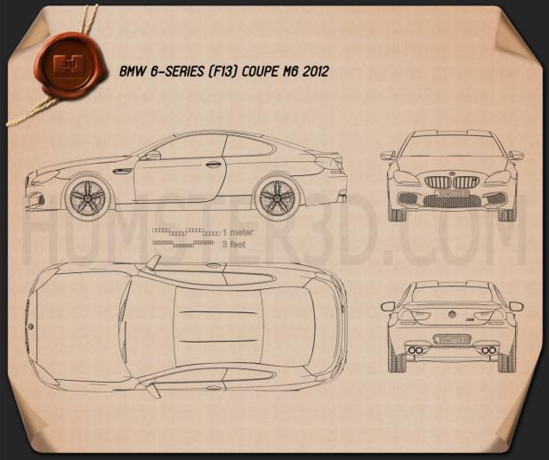 BMW M6 Coupe (F13) 2013 Blueprint