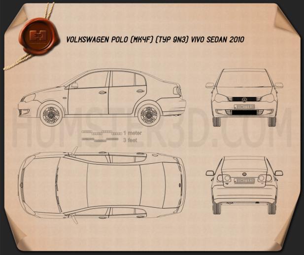Volkswagen Polo Vivo Sedán 2010 Plano
