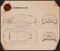 Volkswagen XL1 2013 Blueprint