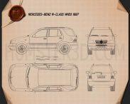 Mercedes-Benz M-Class (W163) 1997 Blueprint 3d model
