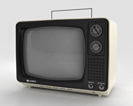 3D model of Sampo TV B-1201BW