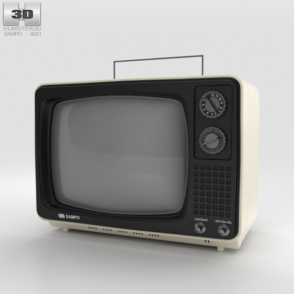 Sampo TV B-1201BW 3D model