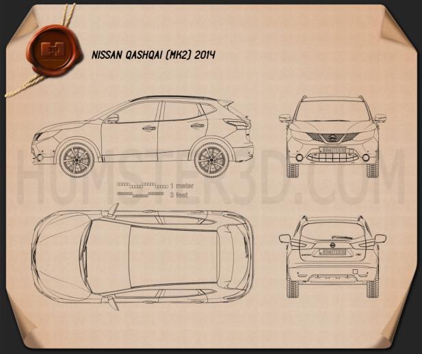 Nissan Qashqai 2014 Blueprint