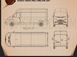 Peugeot Boxer Panel Van 2007 Blueprint