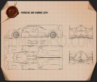 Porsche 919 Hybrid 2014 Blueprint